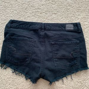 AE Black Jean Shorts Ripped Size 8